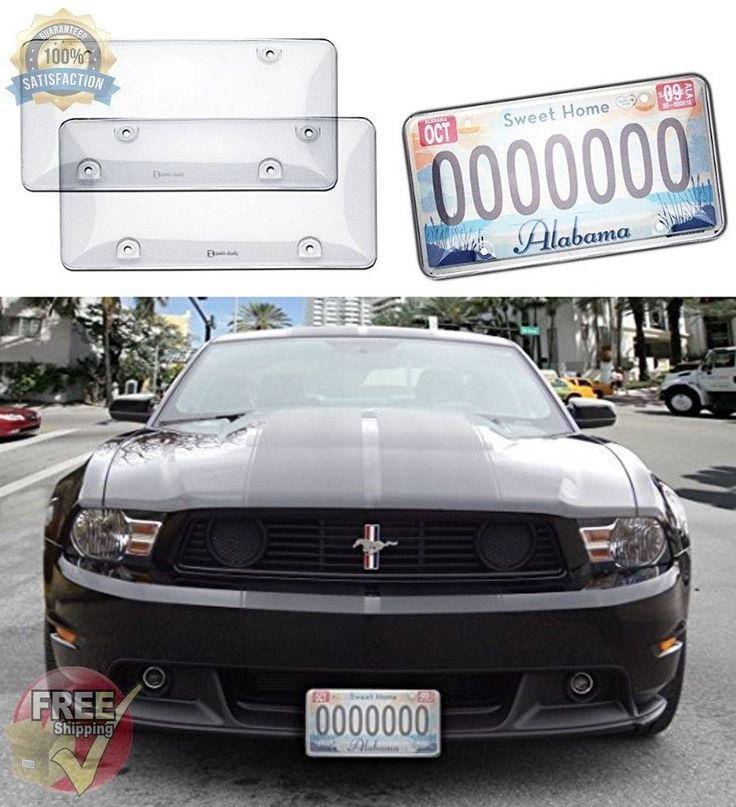 License Plate Cover Clear Traffic Bubble Design Heavy Duty Unbreakable Quality #ZentoDeals