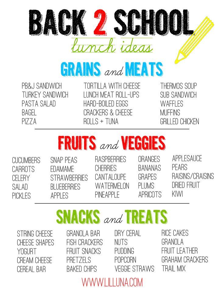Great Back 2 School Lunch Ideas on { lilluna.com }