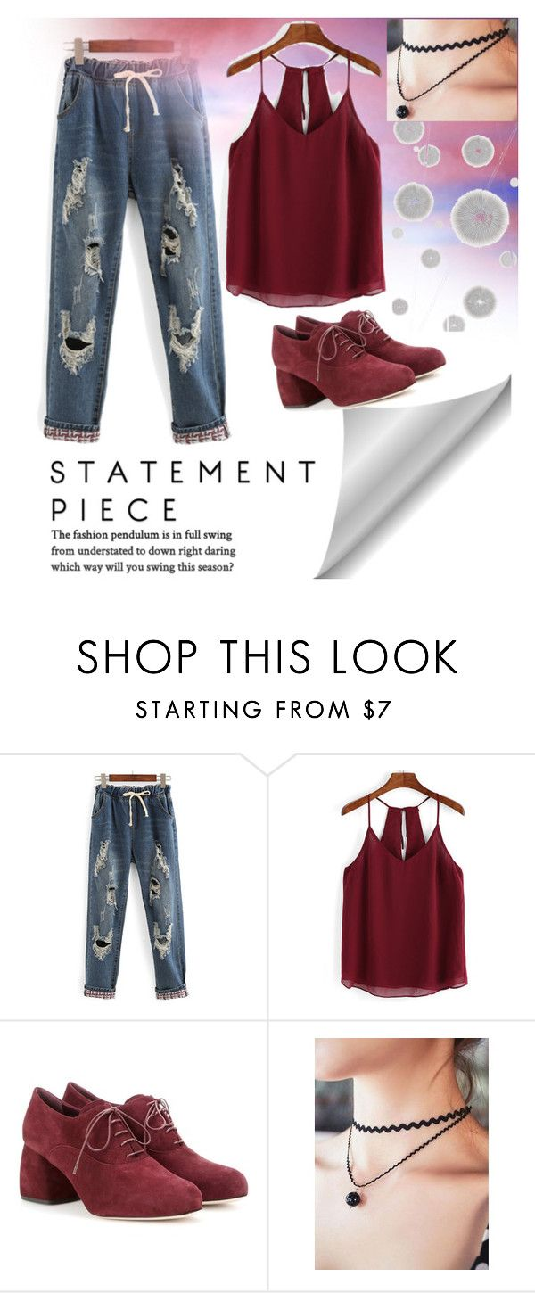 """""""tattered jeans"""" by easytobeme ❤ liked on Polyvore featuring Miu Miu and Komar"""