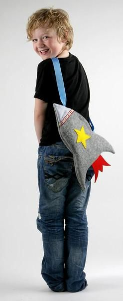 Tasche Rakete für Kinder // Kids rocket bag by bellaundgretel via DaWanda.com