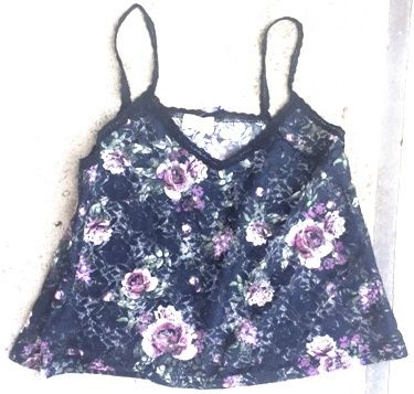 Rose pattern cami in black. #SHOP www.dressmeperfect.com #fashion