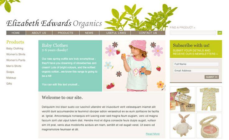 Website design for Elizabeth Edwards Organics. #websitedesign #webdesign #web #design #graphicdesign #website #websites