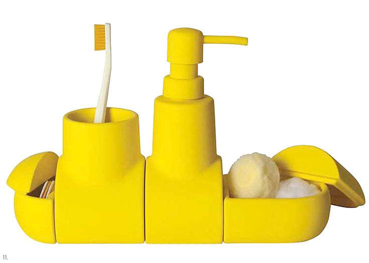 167 best yellow submarine for Yellow bathroom accessories sets