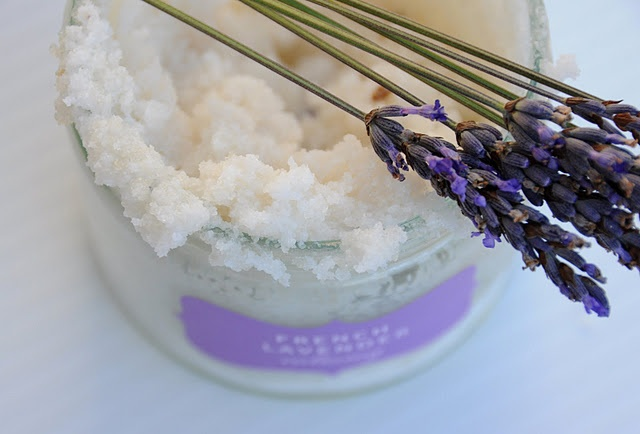 Lavender Scrub DIY. I used 1/2 cup granulated sugar. 1/2 cup cane sugar.1/3 cup epson salt. 1 cup melted coconut oil, and as much essential oil ( scent of your preference) as you prefer. It works very well and leaves your skin VERY soft.