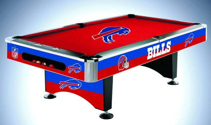 Licensed Billiards Table with Team Logo Cloth from Imperial International. Billiards Tables and Balls are available for ALL NFL teams and are now pinned to all 32 NFL Team Boards.