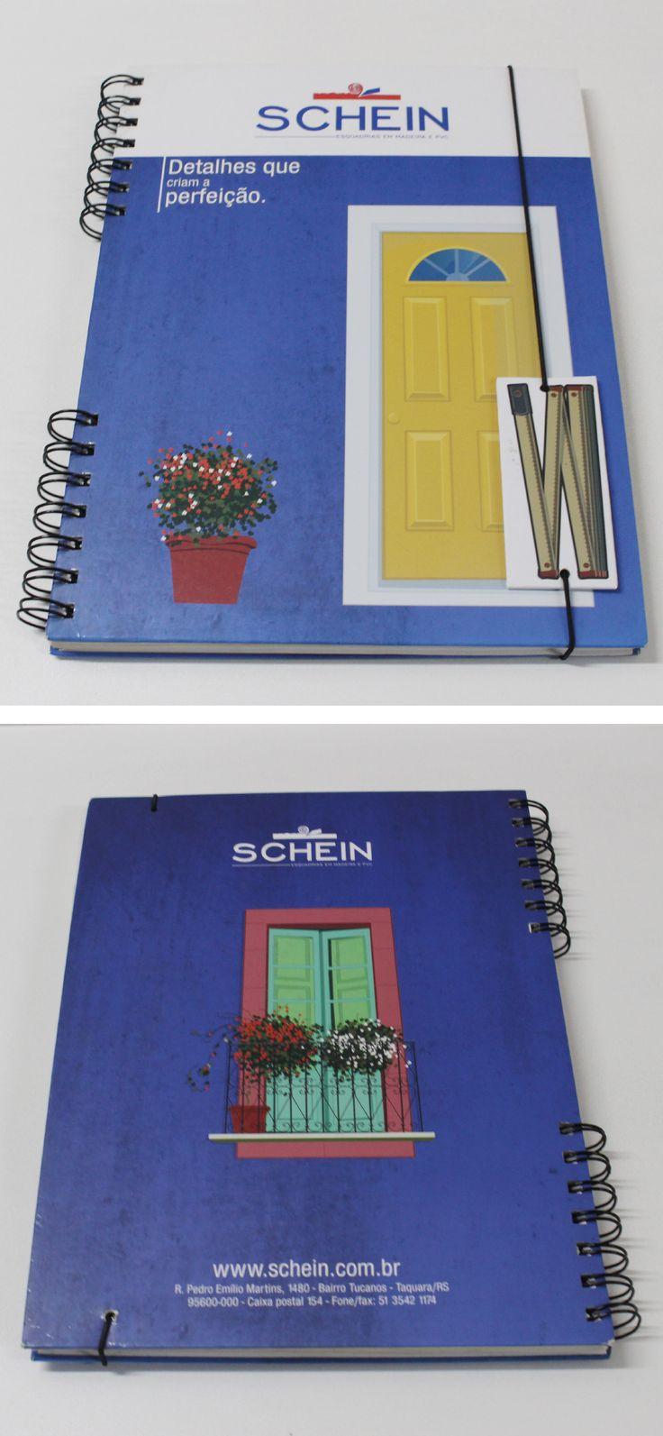 Caderno criado pela Agência Conceito para o cliente Esquadrias Schein.