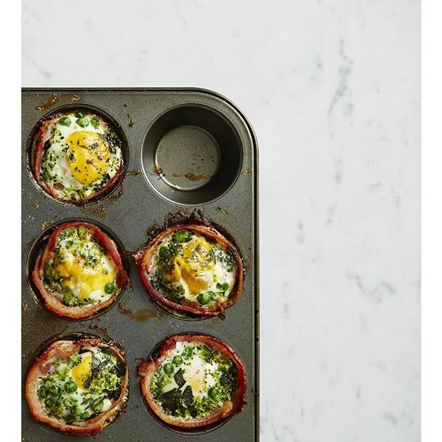 You guys went bonkers over these Green Bacon + Egg Cupcakes last week so we're bringin' them back! And we totes get it. It's bacon...in a cupcake. I'm trying to Pin It To Win It! To guarantee a spot on the next I Quit Sugar Program, CLICK THIS IMAGE