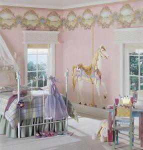 Carousel Theme Bedroom Ideas   Carousel Merry Go Round Wall Decals    Carousel Horse Decor   Carousel Theme Baby Bedrooms   Girls Bedrooms Theme    Carousel ...
