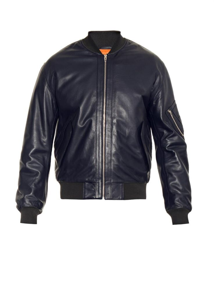 Leather bomber jacket | McQ Alexander Mcqueen | MATCHESFASHION.COM AU