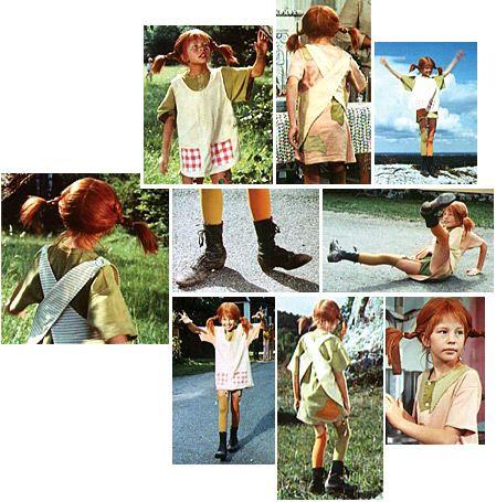 Inspirationsbilder für ein Pippi Langstrumpf Kostüm