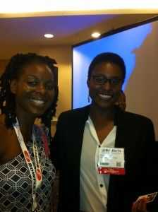 At BlogHer12 meeting the maker and Awkard Black Girl star.