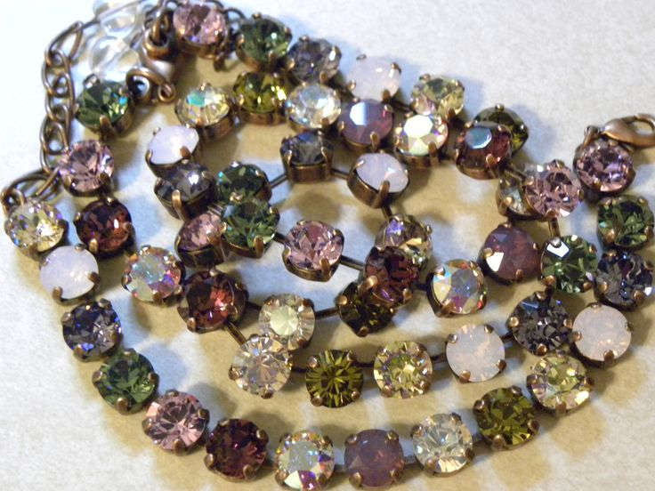 What types of crystal jewelry are available from Swarovski?