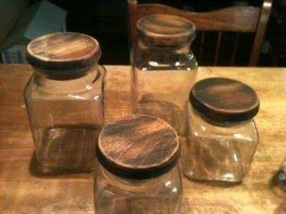 Booth #555: DIY Primitive Canister Lids (make new lids for jars with missing lids!)