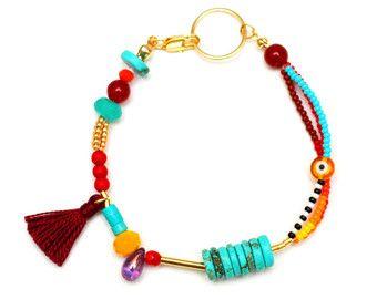 Amicizia con bordino - Bracciale in nappa - seme della perla del braccialetto - accatastamento del braccialetto - bracciale a più livelli - estate
