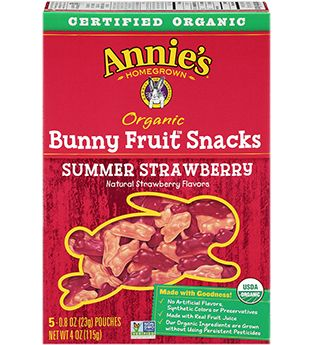 Certified Organic Fruit Snacks - Annie's Homegrown  Actually Really Really good. Best gummies I've had, taste very fruity, like concentrated fruit bursts. Very good. bit pricey as they are organic, but trade off in that the ingredients are very simple and surprisingly make a better product than normal ones. Haven't tried the other flavors yet, but these are wonderful.