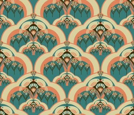 Not sure how to use this Art Deco Pattern but i love the colours & design