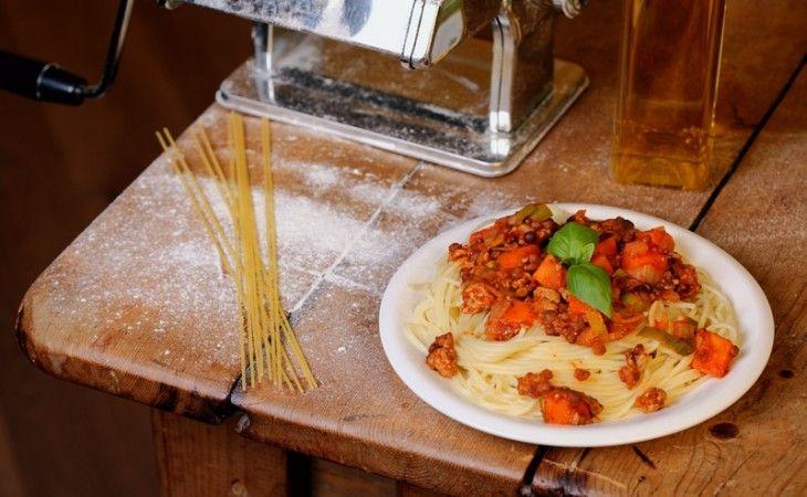 Pasta met rode saus - VeggieChallenge