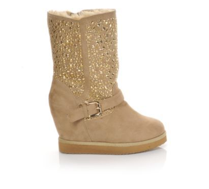Lil cute than plain flat uggs.Women's Soda Jabot Camel at Shoe Carnival #ShoeCarnival