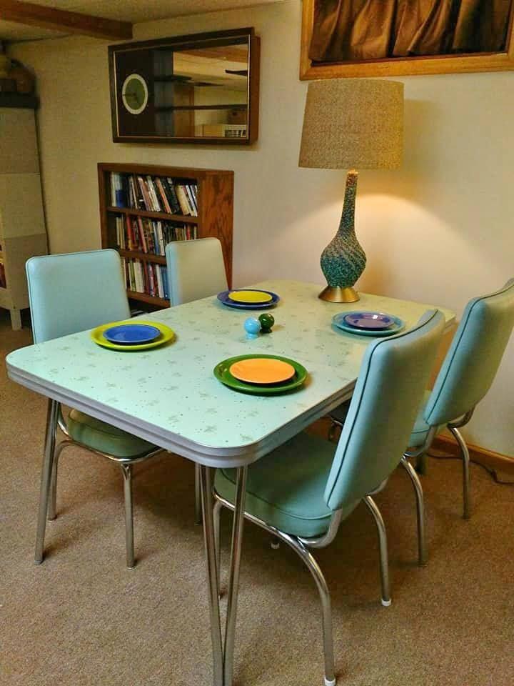 Retro Vintage 1950s Formica Dinette Tobuylists Vintage Bedroom Furniture Dinning Room Decor Furniture