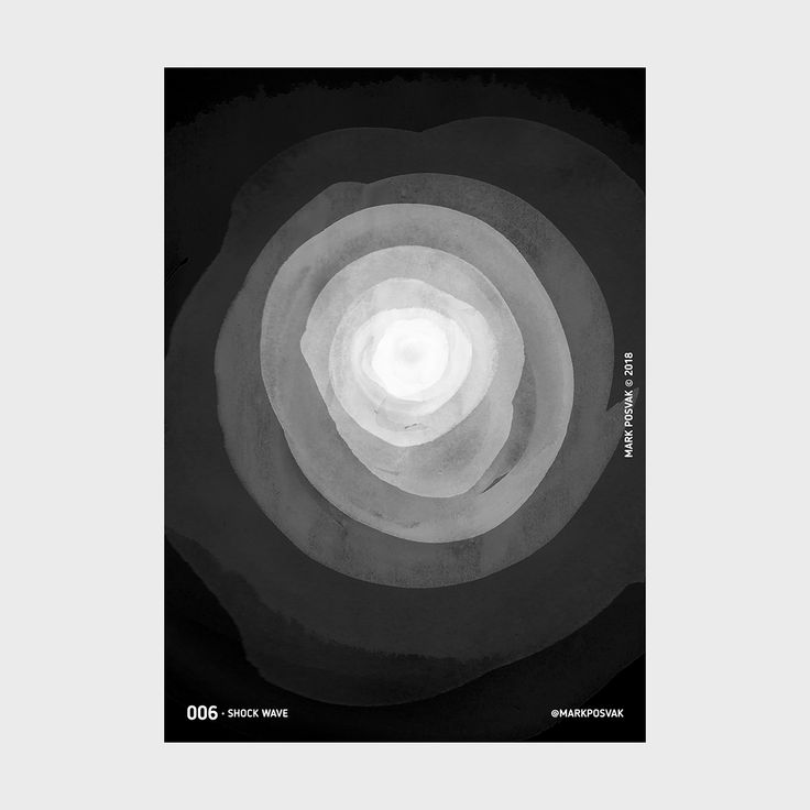 006 • Shock Wave | A Poster a Day Mark Posvak © 2018