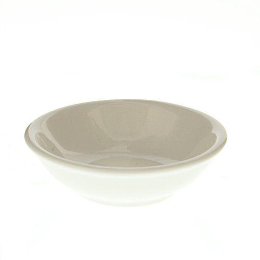 GreenLeaf Round Ceramic Napkin Tray � White, Set of 4