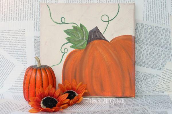 PitterAndGlink: {My Favorite Bloggers: Pumpkin Canvas Art}