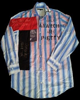 REPRODUCTION SEDITIONARIES ANARCHY SHIRT, REPRODUCTION SEDITIONARIES ANARCHY SHIRT FOR SALE, PUNK ROCK