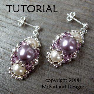Lots of Free Jewelry Making Tutorials & Lessons: FREE Ornate Beaded Earrings Tutorial by Tamara McFarland