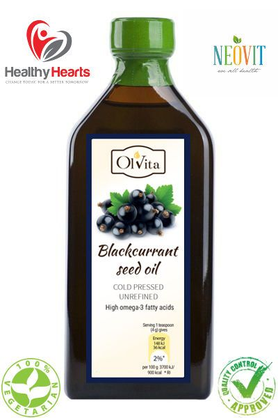 Blackcurrant seed oil cold pressed, unrefined 250 ML - Glass Bottle  #OlVita #Oils