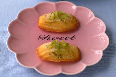 Lime sugar madeleines