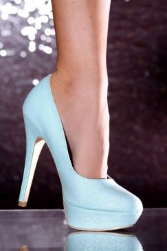 baby blue. I wish I could wear heels and look good in them.