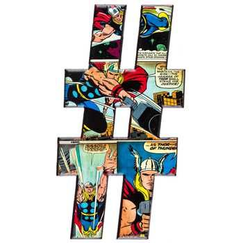 Marvel Heroes Embossed Tin Symbol - Hashtag - wall decor - pound - number sign - # hashtag