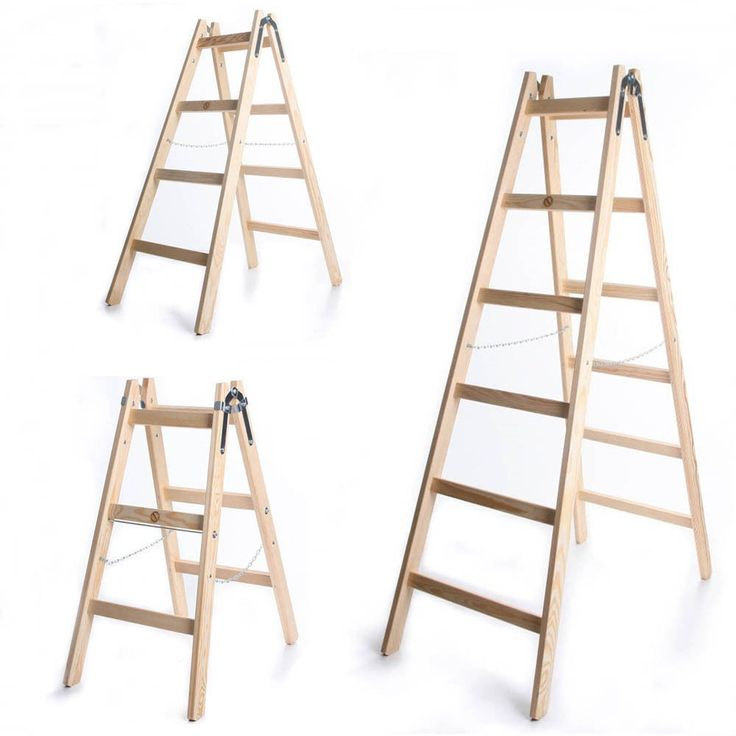 Leiter Holzleiter Klappleiter Haushaltsleiter 150kg 3-6 Stufen Klapptritt Steh    eBay