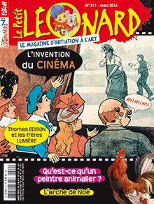 L'invention du cinéma (p. 12-18) Thomas Edison, inventeur de génie (p. 19) Noé, le premier navigateur (p. 20-25) Qu'est-ce qu'un peintre animalier ? (p. 26-29) Buster Keaton (30-33)