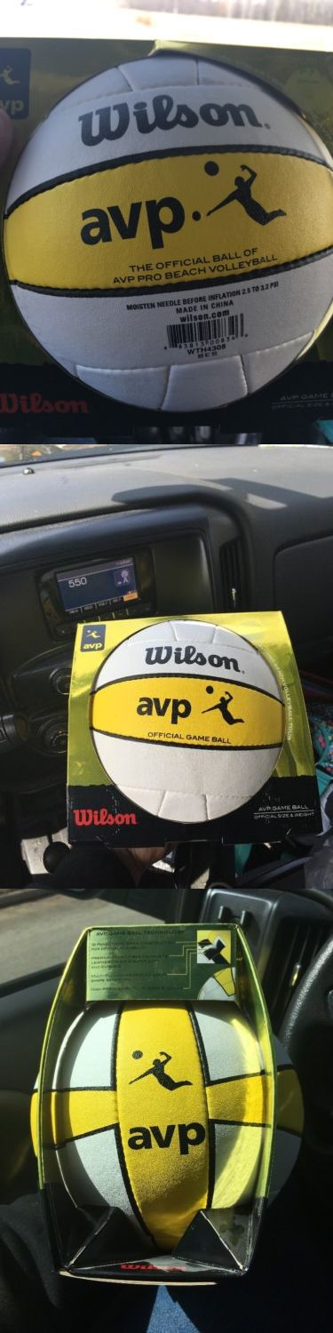 Volleyballs 159132: Wilson Avp Game Volleyball Wth4308xdef -> BUY IT NOW ONLY: $42.25 on eBay!
