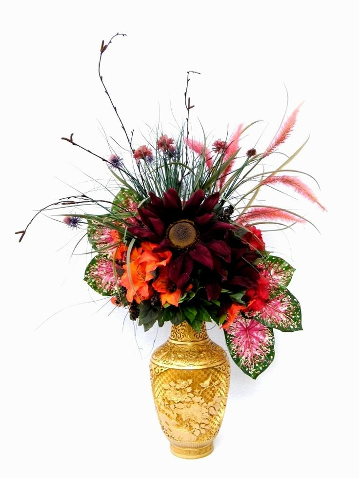 Fall thanksgiving bouquet centerpiece silk flower
