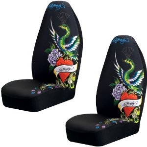 Ed Hardy Peacock Car Seat Covers