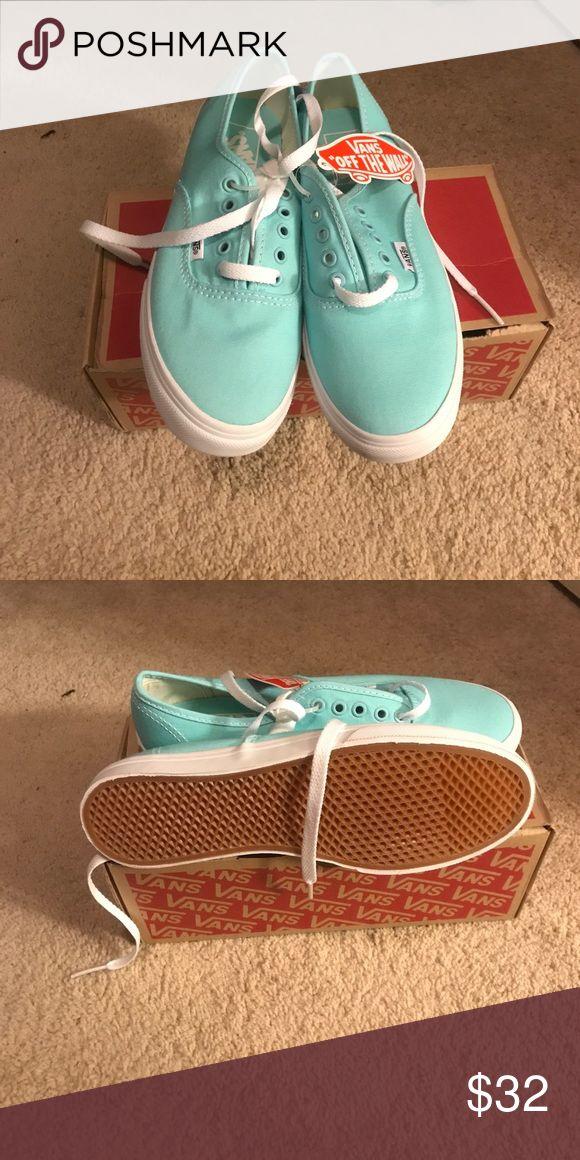 Vans Brand New in box never worn Teal Vans women's Vans Shoes Sneakers
