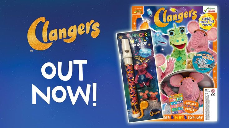 The brand new Clangers CBeebies magazine is out now! Comes with a free whistle and figurine! 🎶😀