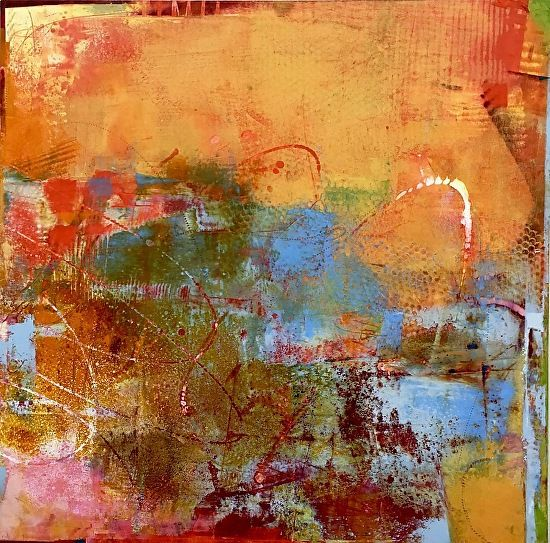 Mayhap by Sue Jachimiec Oil and Wax ~ 20 x 20