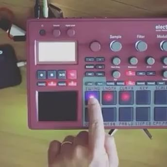 #Repost @synthpatchers ・・・ #synthpatcher #loopop patching the hell out of the @korgofficial #electribe and an app... details here: https://youtu.be/R4gt99uK8aM ・・・ Electribe Shift Skin and tabletop stand available at: http://cremacaffedesign.com/