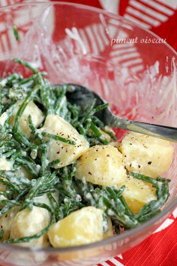 Salade de pommes de terre aux salicornes