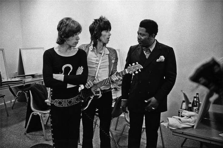 Mick Jagger, Keith Richards and B.B.King