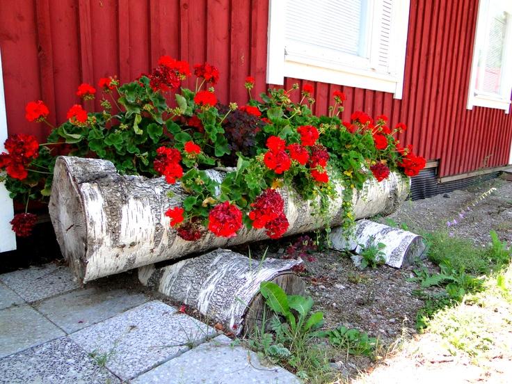 A planter at a shop in Vääksy, Finland