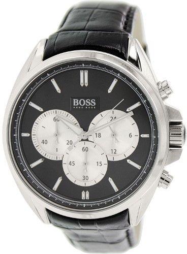 HUGO BOSS Men's 1512879 Black Leather Quartz Watch
