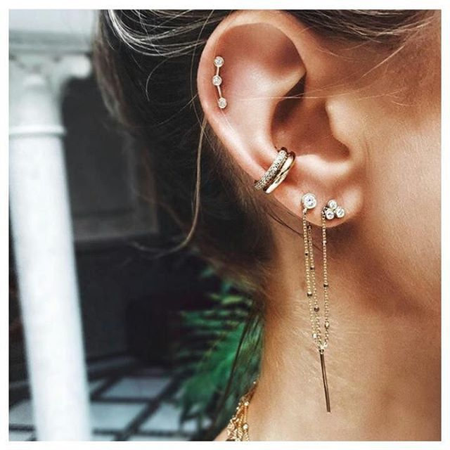 "339 mentions J'aime, 4 commentaires - Made of Jewelry [by Sophie] (@madeofjewelry) sur Instagram : ""@loganhollowelljewelry's ear is always on point """