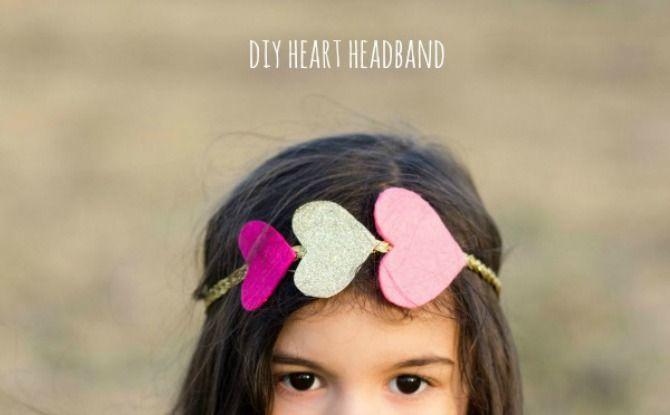 DIY: heart headband. - OK Alison needs to make this for the girls!