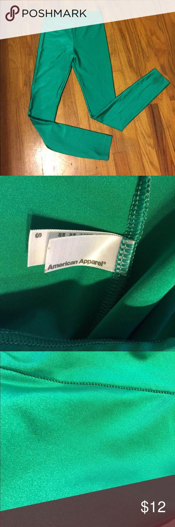 American apparel shiny green leggings Silky shiny green American apparel leggings. American Apparel Pants Leggings