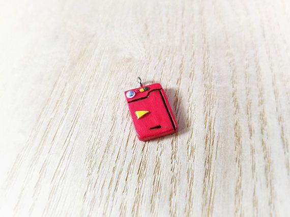 Miniature Mini Pokemon Pokedex Polymer Clay Charm, Pendant, Keychain, or Necklace, Pokemon Jewelry, Pokemon Necklace, Pokemon Birthday Party