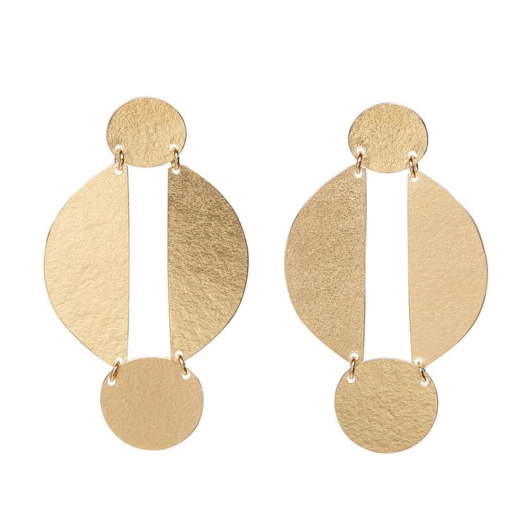 Annie Costello Brown Earrings | #fashion #jewellery #earrings #accessories #valerydemure [discover more at www.valerydemure.com]